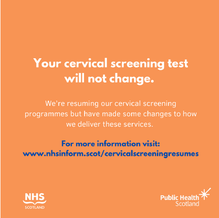 Due to COVID-19, a number of safety measures have been put in place to ensure it is safe to attend screening appointments. There is no change to the screening test itself.